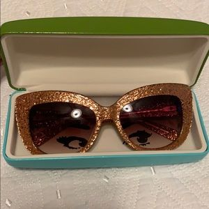 Kate Spade glitter sunglasses with case